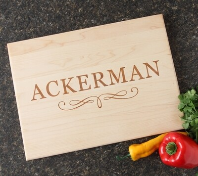Personalized Maple Wood Cutting Board 15 x 11 DESIGN 8