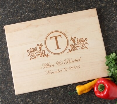 Personalized Maple Wood Cutting Board 15 x 11 DESIGN 15