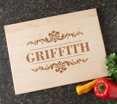 Personalized Maple Wood Cutting Board 15 x 11 DESIGN 16