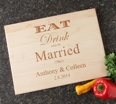 Personalized Maple Wood Cutting Board 15 x 11 DESIGN 17