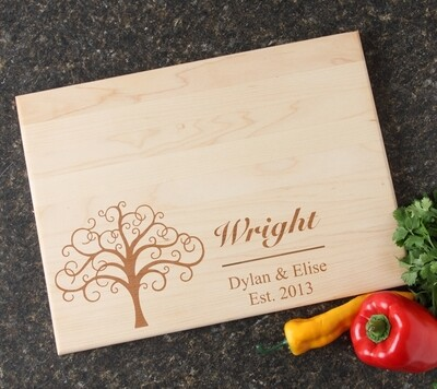 Personalized Maple Wood Cutting Board 15 x 11 DESIGN 18