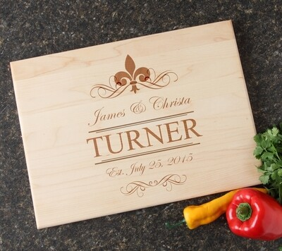 Personalized Maple Wood Cutting Board 15 x 11 DESIGN 20