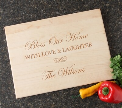 Personalized Maple Wood Cutting Board 15 x 11 DESIGN 22