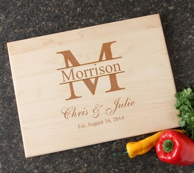Personalized Maple Wood Cutting Board 15 x 11 DESIGN 24