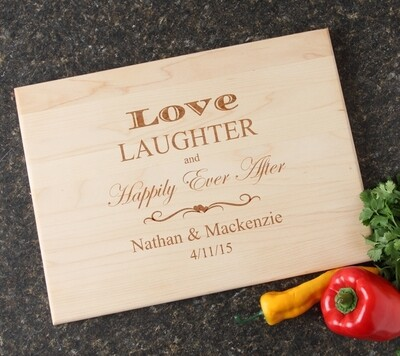 Personalized Maple Wood Cutting Board 15 x 11 DESIGN 26