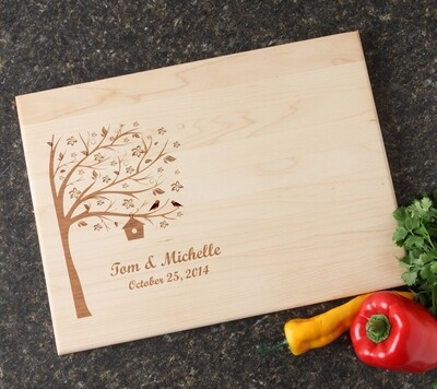 Personalized Maple Wood Cutting Board 15 x 11 DESIGN 27