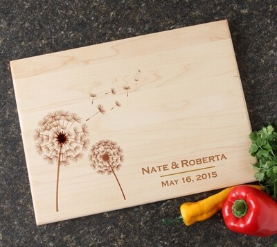 Personalized Maple Wood Cutting Board 15 x 11 DESIGN 28