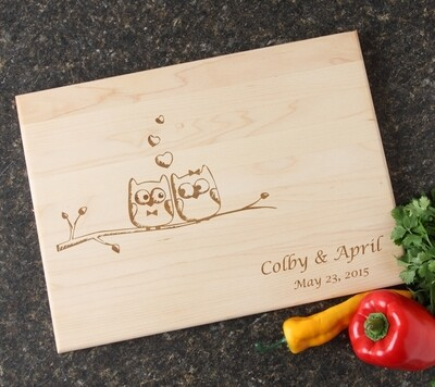 Personalized Maple Wood Cutting Board 15 x 11 DESIGN 29