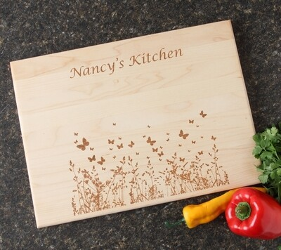 Personalized Maple Wood Cutting Board 15 x 11 DESIGN 30