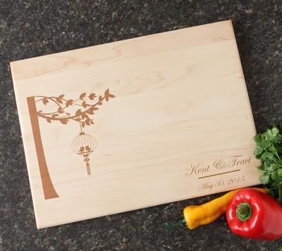 Personalized Maple Wood Cutting Board 15 x 11 DESIGN 32