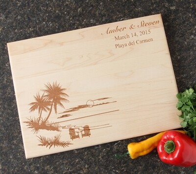 Personalized Maple Wood Cutting Board 15 x 11 DESIGN 33
