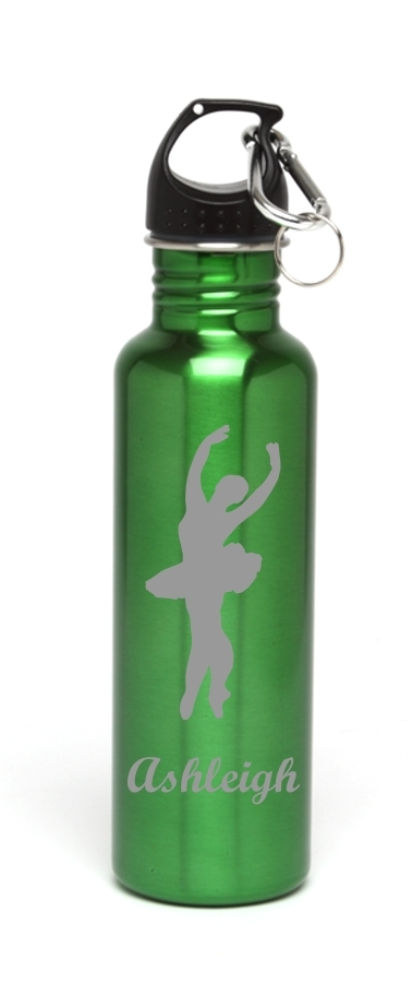 Personalized Water Bottle Stainless Steel Water Bottle Ballet Dancer SSWB-114