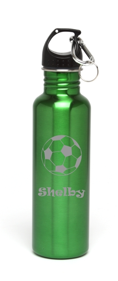 Personalized Water Bottle Stainless Steel Water Bottle Soccerball SSWB-110
