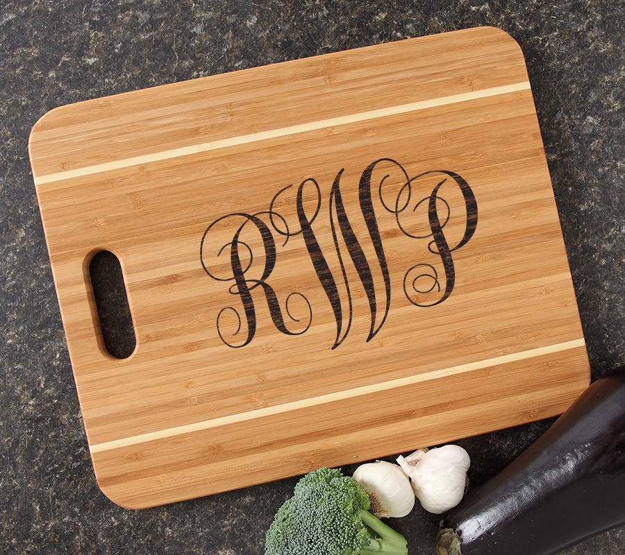 Personalized Cutting Board Engraved 15x12 Handle DESIGN 1 CBA-001