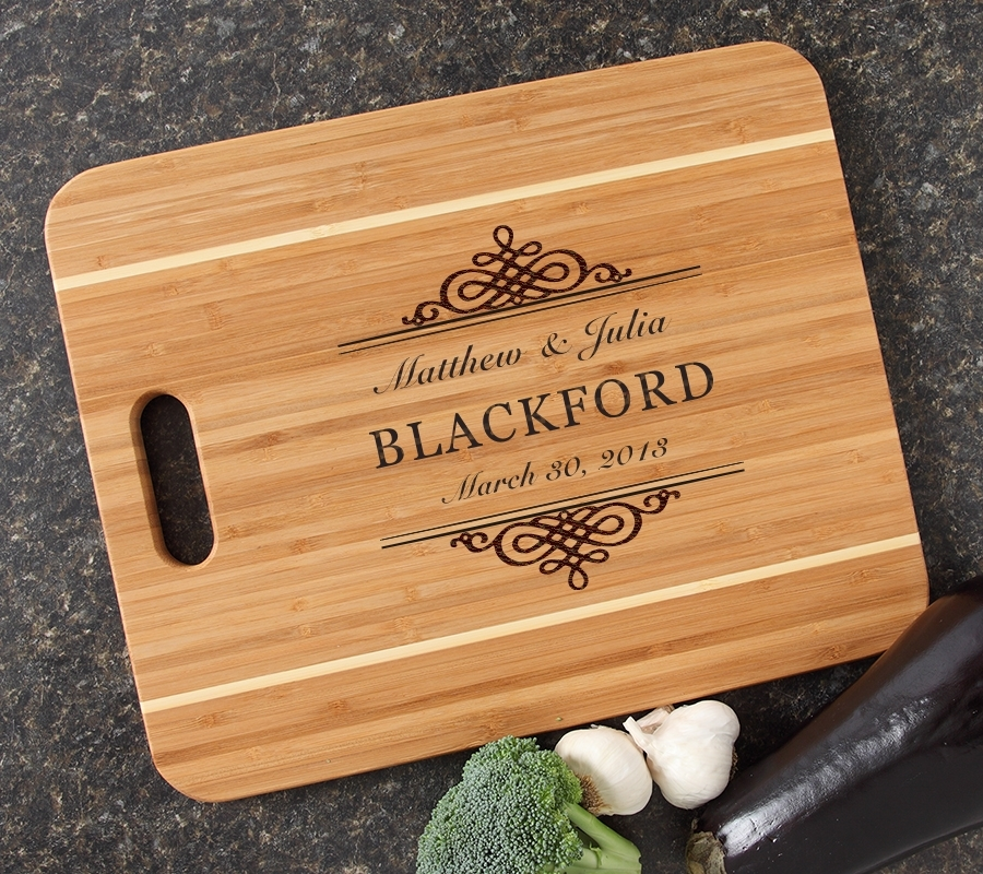 Personalized Cutting Board Engraved 15x12 Handle DESIGN 14 CBA-014
