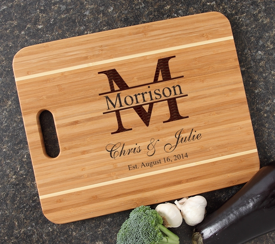 Personalized Cutting Board Engraved 15x12 Handle DESIGN 24 CBA-024
