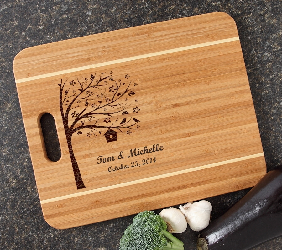 Personalized Cutting Board Engraved 15x12 Handle DESIGN 27 CBA-027