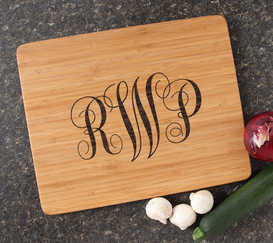 Engraved Bamboo Cutting Board Personalized 15x12 DESIGN 1 CBB-001