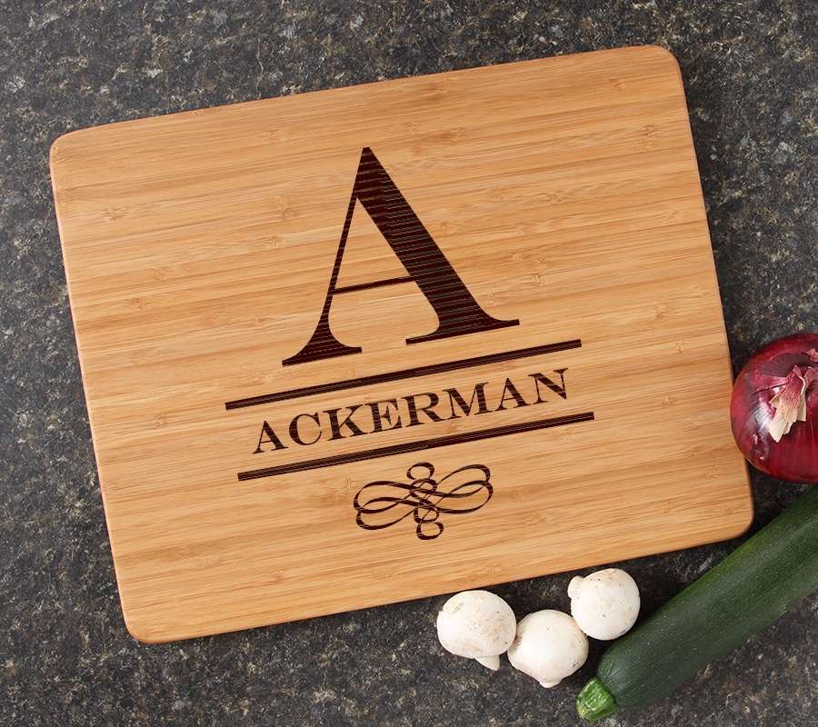 Engraved Bamboo Cutting Board Personalized 15x12 DESIGN 12 CBB-012