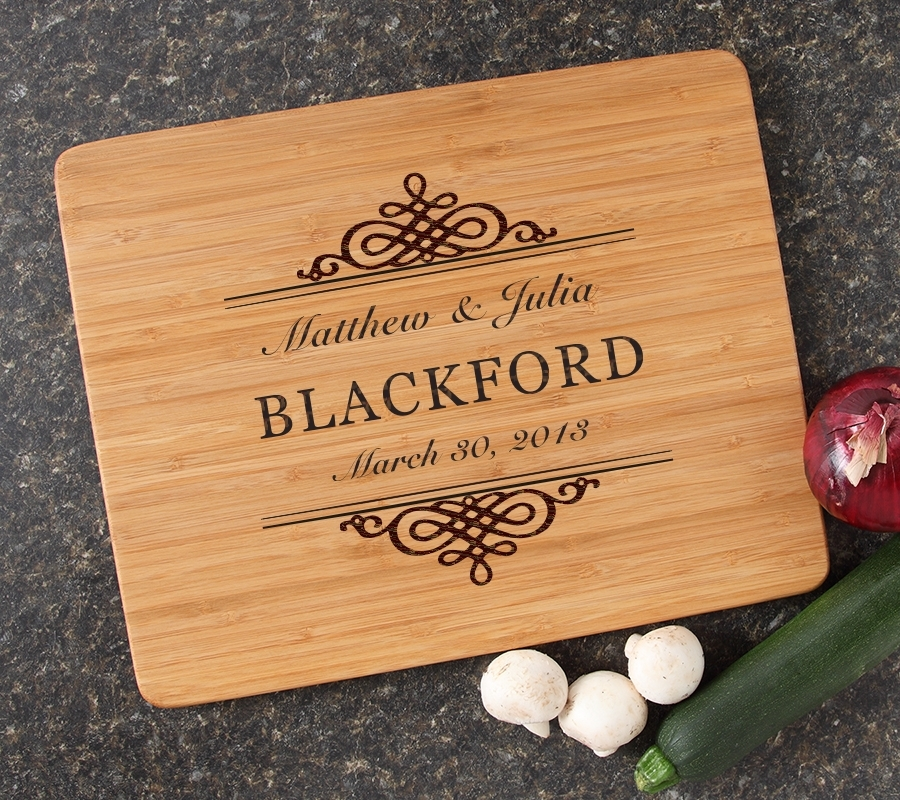 Engraved Bamboo Cutting Board Personalized 15x12 DESIGN 14 CBB-014