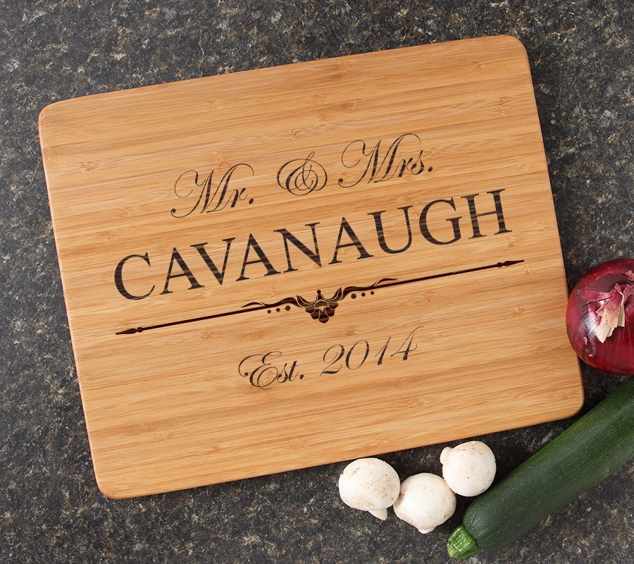 Engraved Bamboo Cutting Board Personalized 15x12 DESIGN 19 CBB-019