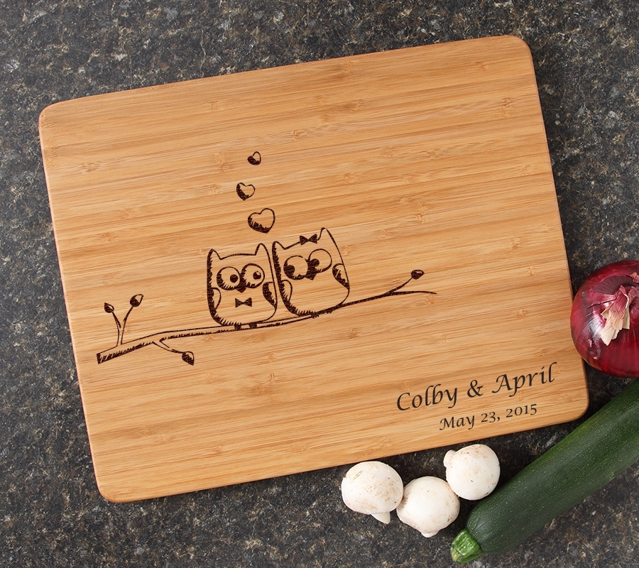 Engraved Bamboo Cutting Board Personalized 15x12 DESIGN 29 CBB-029
