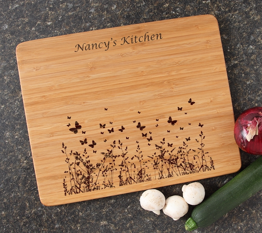 Engraved Bamboo Cutting Board Personalized 15x12 DESIGN 30 CBB-030