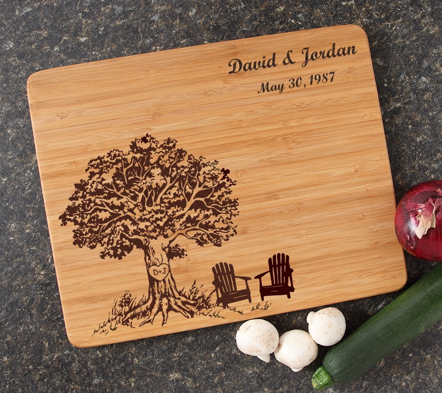 Engraved Bamboo Cutting Board Personalized 15x12 DESIGN 31 CBB-031