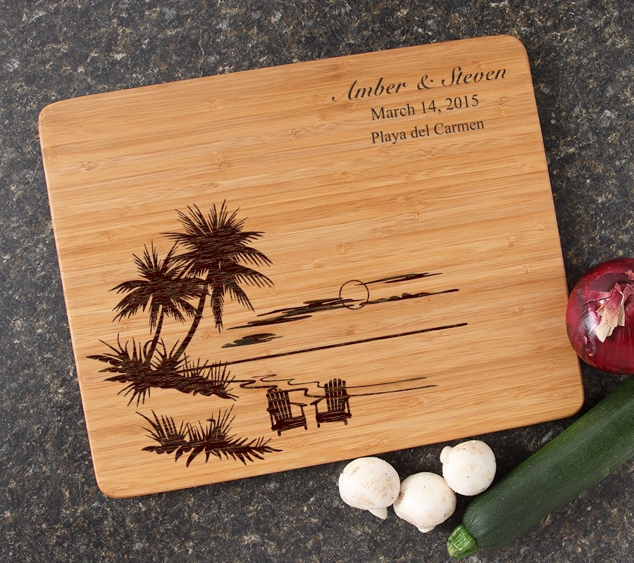 Engraved Bamboo Cutting Board Personalized 15x12 DESIGN 33 CBB-033