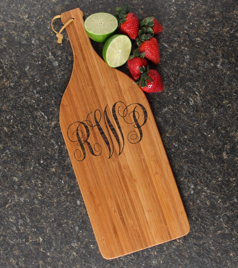 Personalized Cutting Board Engraved Bamboo 16 x 5 DESIGN 1 CBD-001