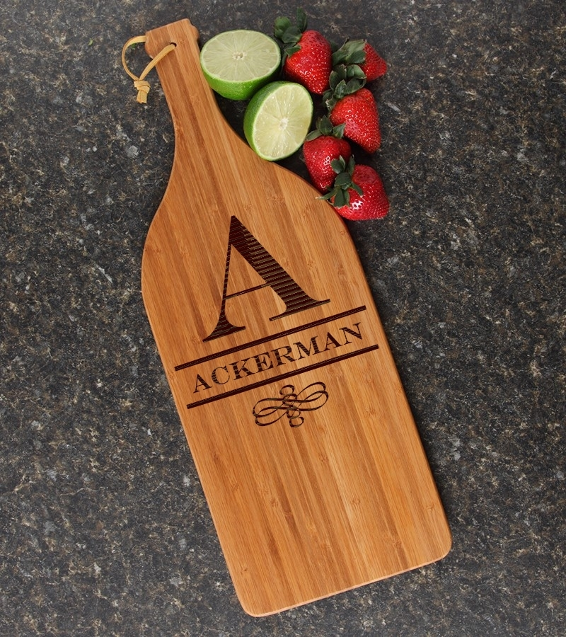 Personalized Cutting Board Engraved Bamboo 16 x 5 DESIGN 12 CBD-012