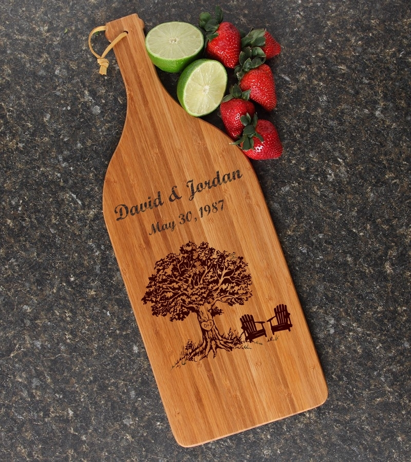 Personalized Cutting Board Engraved Bamboo 16 x 5 DESIGN 31 CBD-031