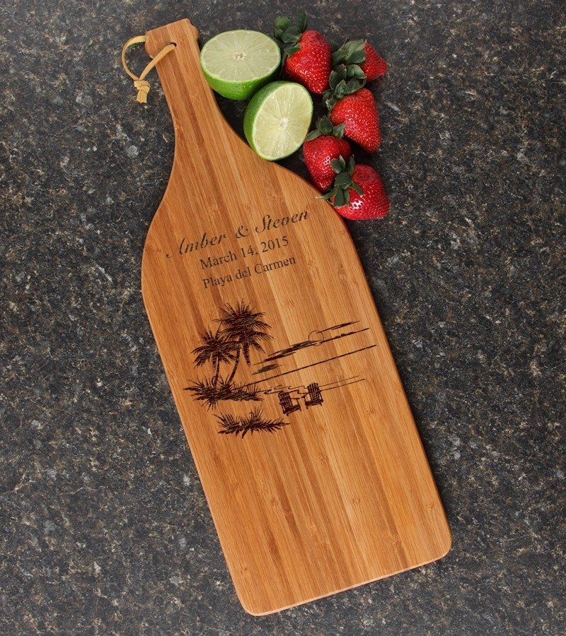 Personalized Cutting Board Engraved Bamboo 16 x 5 DESIGN 33 CBD-033