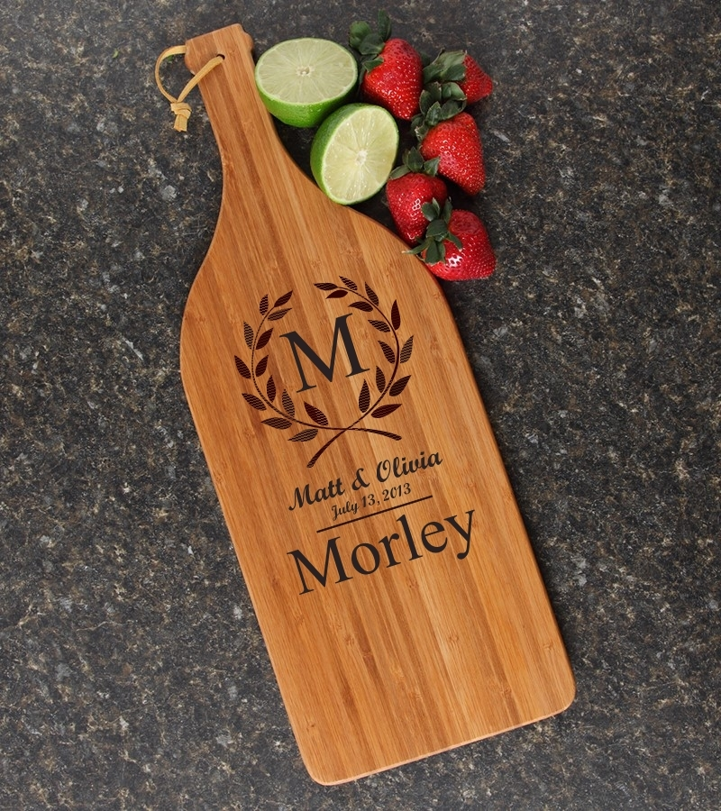 Personalized Cutting Board Engraved Bamboo 16 x 5 DESIGN 6 CBD-006