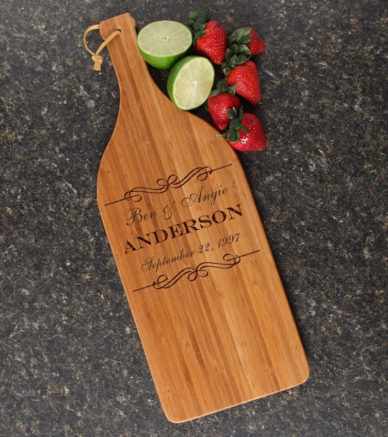 Personalized Cutting Board Engraved Bamboo 16 x 5 DESIGN 9 CBD-009