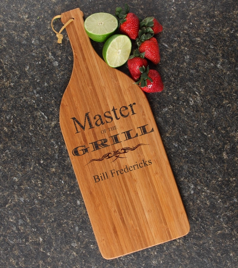 Personalized Cutting Board Engraved Bamboo 16 x 5 DESIGN 23 CBD-023