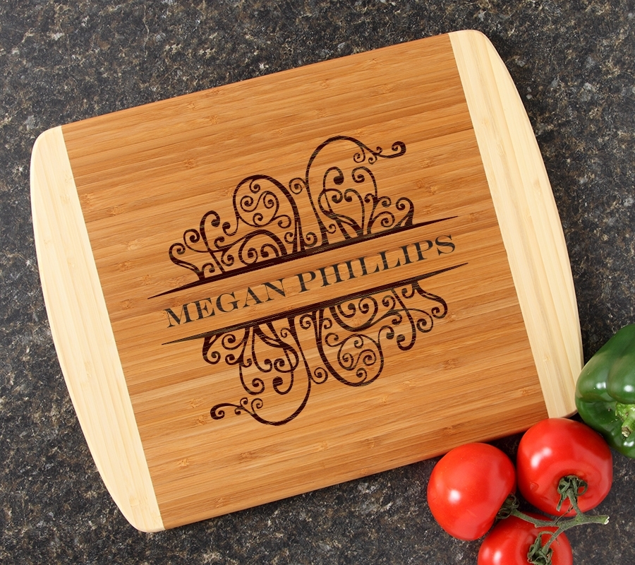 Personalized Cutting Board Custom Engraved 14x11 DESIGN 4 CBC-004