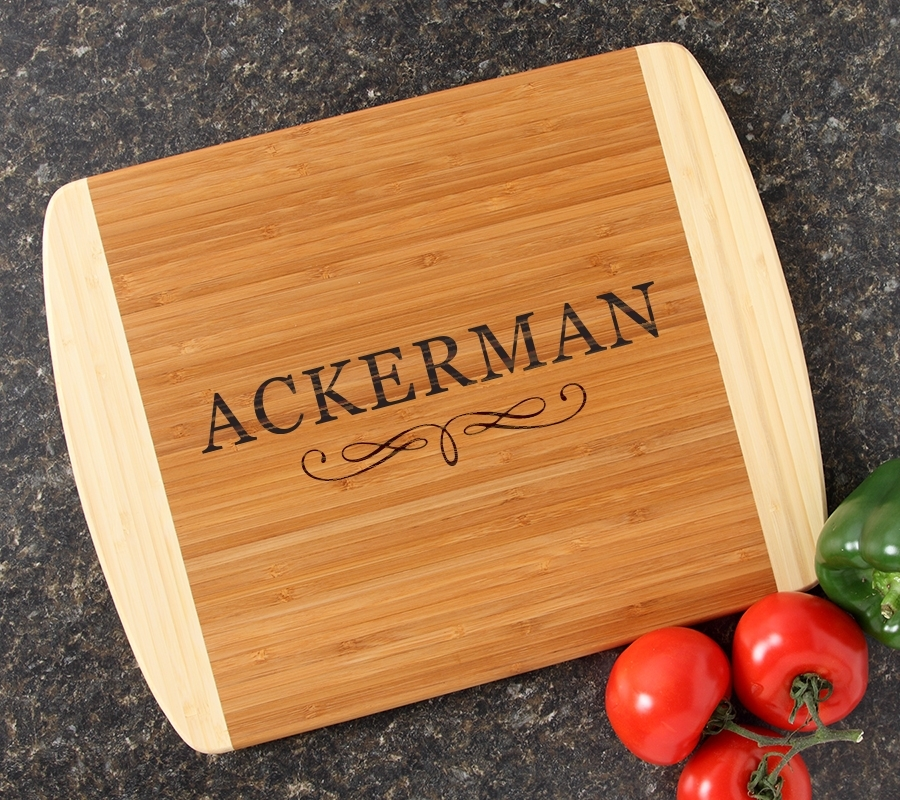 Personalized Cutting Board Custom Engraved 14x11 DESIGN 8 CBC-008