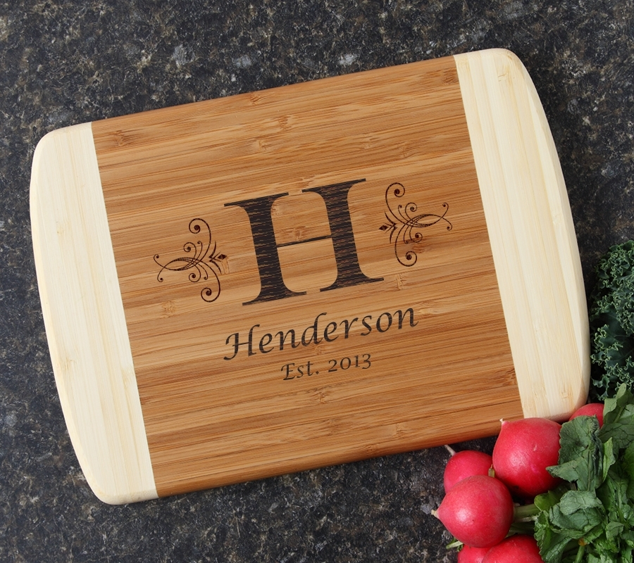 Personalized Cutting Board Custom Engraved 10 x 7 DESIGN 2 CBG-002