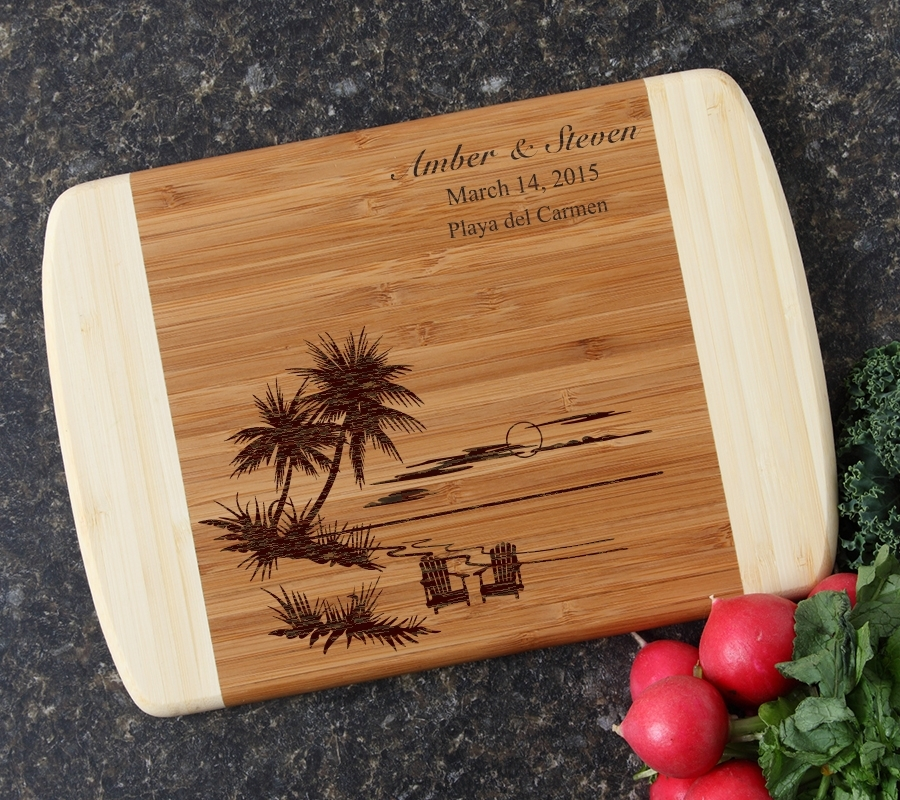 Personalized Cutting Board Custom Engraved 10 x 7 DESIGN 33 CBG-033