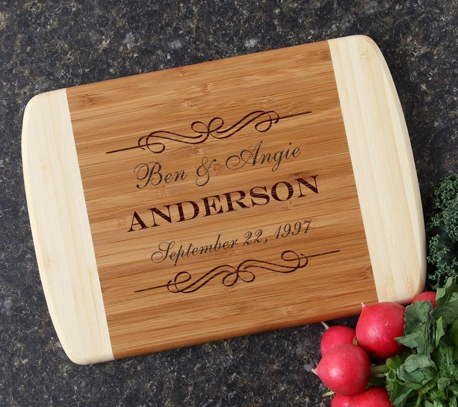 Personalized Cutting Board Custom Engraved 10 x 7 DESIGN 9 CBG-009