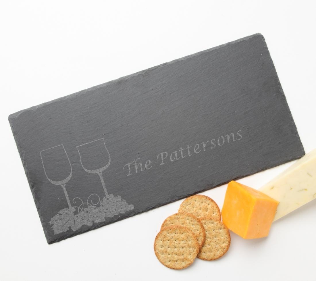 Personalized Slate Cheese Board 15 x 7 DESIGN 5 SCB-005