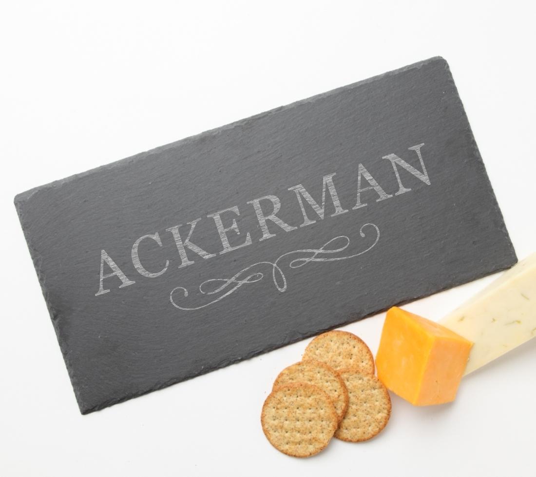 Personalized Slate Cheese Board 15 x 7 DESIGN 8 SCB-008
