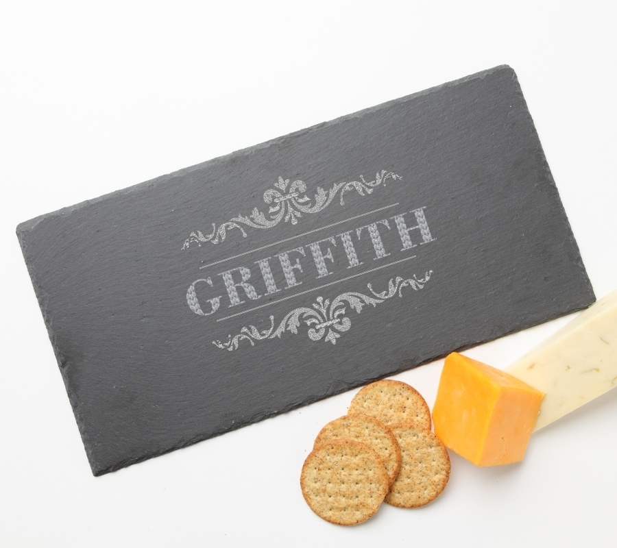 Personalized Slate Cheese Board 15 x 7 DESIGN 16 SCB-016