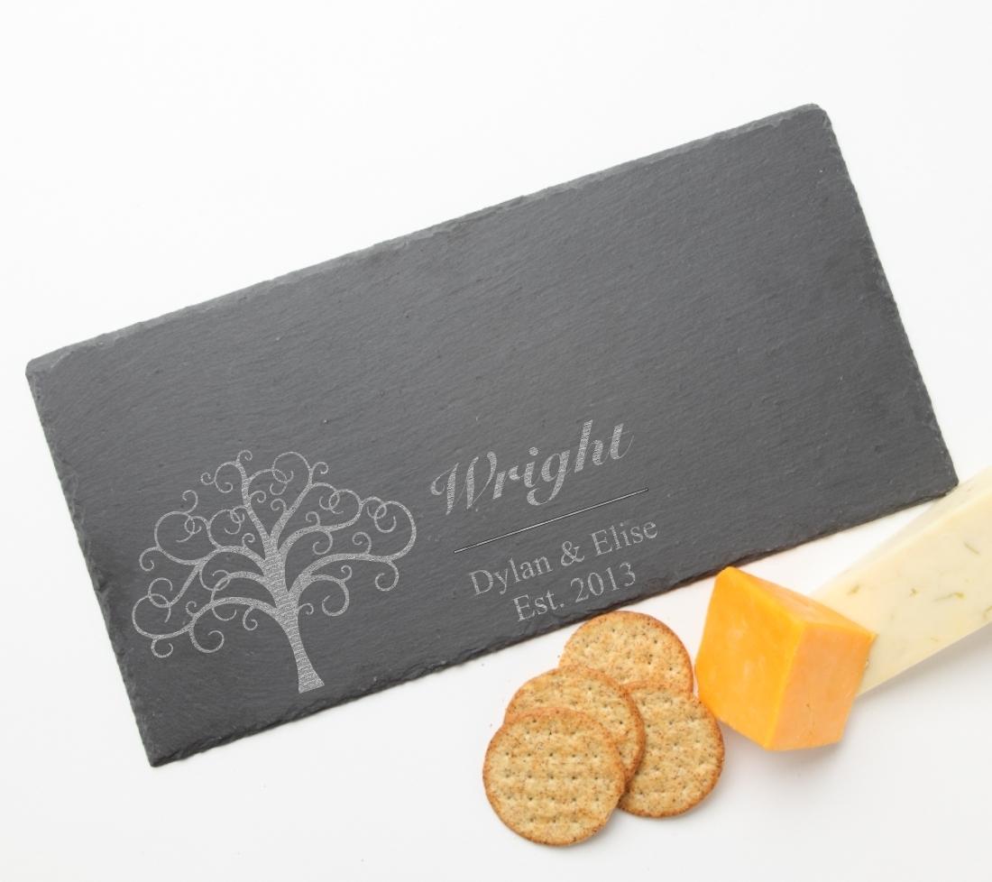 Personalized Slate Cheese Board 15 x 7 DESIGN 18 SCB-018