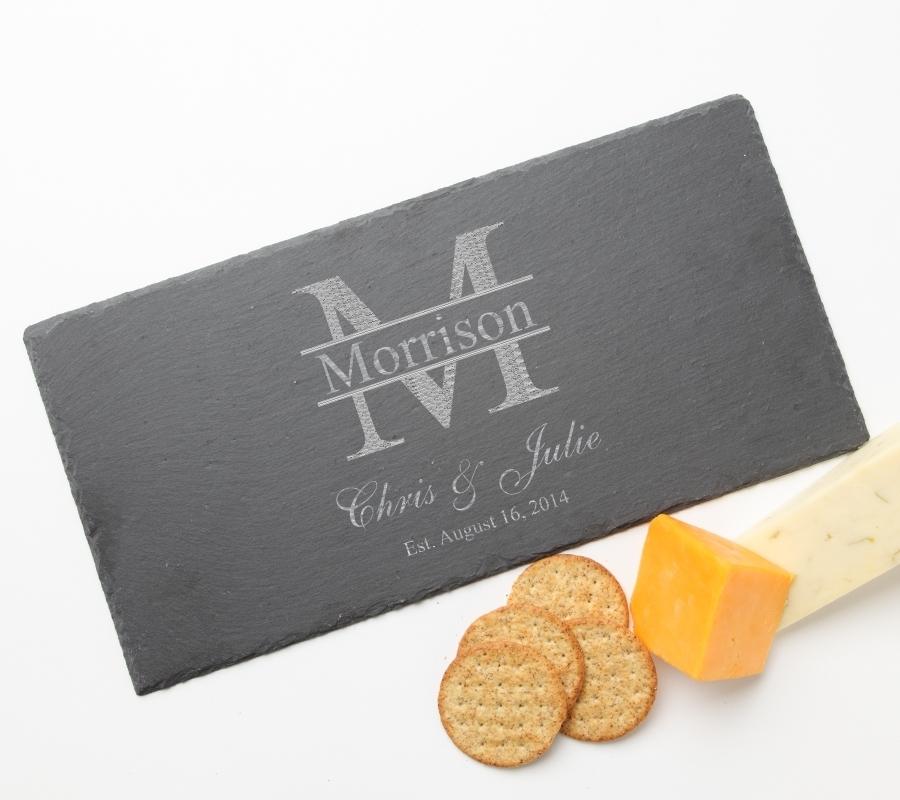 Personalized Slate Cheese Board 15 x 7 DESIGN 24 SCB-024
