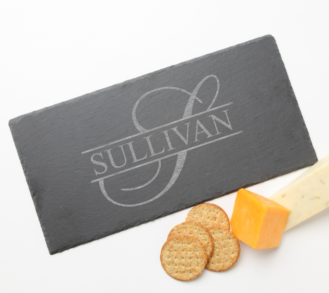 Personalized Slate Cheese Board 15 x 7 DESIGN 25 SCB-025