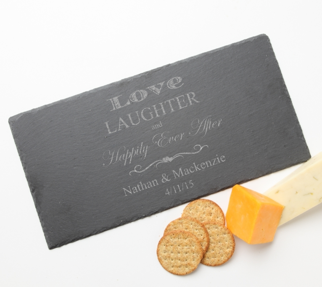 Personalized Slate Cheese Board 15 x 7 DESIGN 26 SCB-026