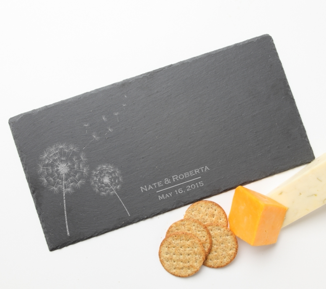 Personalized Slate Cheese Board 15 x 7 DESIGN 28 SCB-028