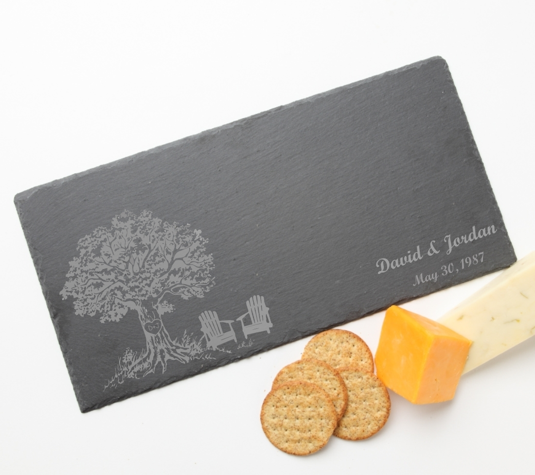 Personalized Slate Cheese Board 15 x 7 DESIGN 31 SCB-031